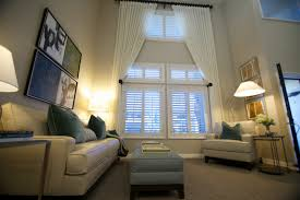 window treatments for tall windows spaces with curtains custom