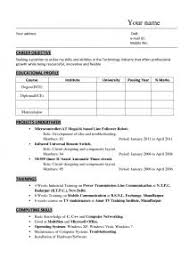 The Best Resume Format For Freshers by Examples Of Resumes Resume To Cv Maker Career Tools Easy Within