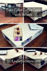 euro pallet coffee table