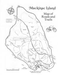 map of mackinac island michigan hiking trails on mackinac island