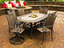 Tile Top Dining Tables Stone Patio Tables Ideas Homesfeed