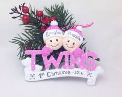 personalized baby christmas ornament ornament etsy