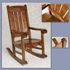 Mission Style Rocking Chair Hand Crafted Hawaiian Curly Koa Mission Style Rocker By Keaau Fine