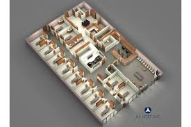 dental office 3d floor plan a l post inc general contractors