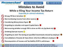 e filing mistakes to avoid while e filing your income tax return