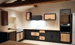 cuisine bois acier evier gris clair trendy cuisine bois et acier evier photo