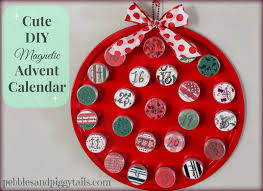 simple magnetic christmas advent calendar that you can do yourself