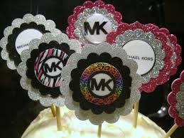michael cake toppers michael kors themed cupcake toppers hang tags party supplies