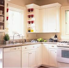 kitchen white kitchen glass cabinet doors ceramic countertop 4