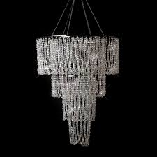 diamond chandelier chandelier 13 ab 24 d x 31 l w chain 48 5 l large 4 tiered