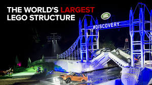land rover lego land rover breaks world record for largest lego structure