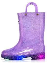 light up rain boots outee girls kids light up rain boots waterproof glitter