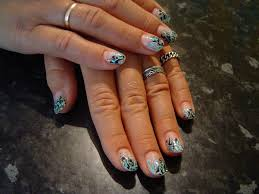 abstract nail art design with turcoaz color nail art pinterest