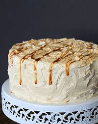 yellow cake with caramel buttercream