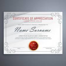 certificate design template certificate template design vector