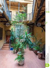 interior courtyard of a building stock photo image 50995322