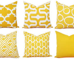 Yellow throw pillow