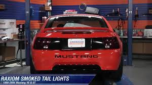 2004 mustang sequential lights mustang raxiom smoked lights 99 04 gt v6 mach 1 review
