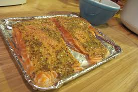 Toaster Oven Dinners What U0027s For Dinner U003e Baked Garlic Mustard Salmon Grease Gets