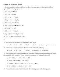 redox worksheet worksheets releaseboard free printable
