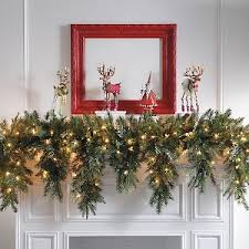 cordless lighted wreaths and greenery tips from town