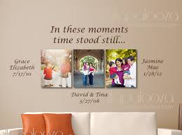 family names wall decal in these moments time stood still