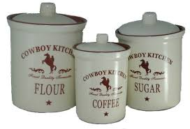western kitchen canisters country canister set with barn kitchen canisters cowboy