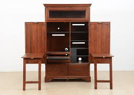 Morgan Computer Desk With Hutch Black Oak by Locking Computer Desk Armoire Office Armoire Ikea Large Image For