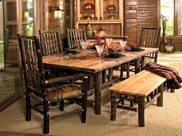 Pine Dining Room Chairs Rustic Oak Dining Table With Benches Rustic Dining Table Seats 10
