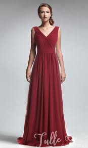 chiffon dress amazing wine criss crossed bodice v neck chiffon dress tbqp247