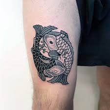 yin yang koi fish design inspiration on thigh