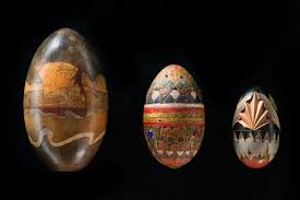 wooden easter eggs moscow s amazing wooden easter eggs exhibition