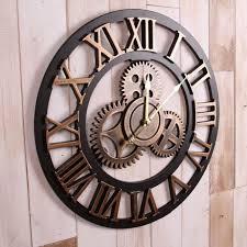 Grande Horloge Murale Carrée En Bois Vintage Achat La Grande Horloge Murale En Photos Salons And Clocks