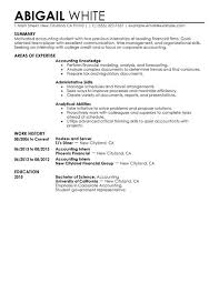 to make a resume for accounting internship