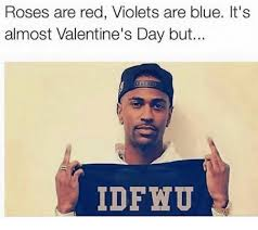 Roses Are Red Violets Are Blue Meme - roses are red violets are blue it s almost valentine s day but