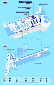 Dallas Terminal Map by Airport Guide International At The Airport In Flight