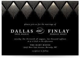 art deco wedding invitation suites minted