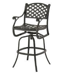 Bar Height Patio Chair Newport By Hanamint Luxury Cast Aluminum Patio Furniture Swivel