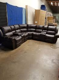 Abbyson Sectional Sofa Abbyson Channing Power Leather Sectional Sofa Set Furniture In