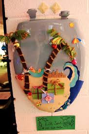 themed toilet seats 15 best toilet seat wreaths images on toilet seats