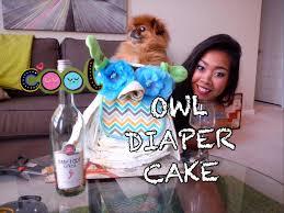 drinks u0026 crafts diy owl diaper cake for baby shower youtube