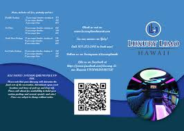 elegant modern flyer design for luxury limo hawaii by