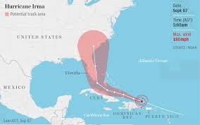 Southern Florida Map by Irma Tears Through The Carribean Heads For Florida Deviant World