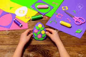 felt easter eggs child holds a felt easter egg decor in his child made