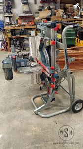 bosch gravity rise table saw stand bosch gravity rise miter saw stand up for review wood shop mike