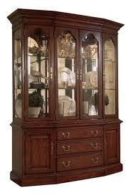 American Drew Cherry Grove Canted China Cabinet Classic Antique