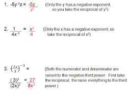 simplify exponents worksheets negative exponents and zero exponents