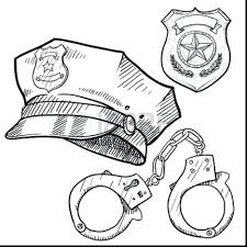 police coloring pages officer tools uniform female police officer