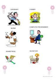 occupations for kids part 1 worksheet free esl printable