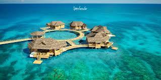 sandals over water bungalow suites jamaica latitudes travel